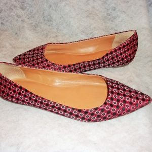 J Crew Pointed Toe Flats Red Size 8 1 /2